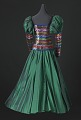 View Dark iridescent green and rainbow sequin dress designed by Peter Davy digital asset number 1