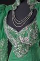 View Green dress with silver details and attached necklace designed by Peter Davy digital asset number 2