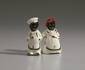 """View Pair of salt and pepper shakers in form of """"Mammy"""" and """"Chef"""" digital asset number 0"""