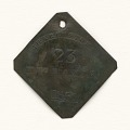 View Charleston slave badge from 1850 for Mechanic No. 23 digital asset number 0