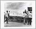 View <I>Mule Train leaves for Washington, Poor People's March, Marks, MS</I> digital asset number 0