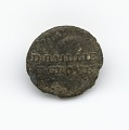 View Identification button worn by enslaved persons on Golden Grove Plantation digital asset number 0