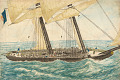View <I>The Portuguese slaver Diligenté captured by H.M. Sloop Pearl with 600 slaves on board, taken in charge to Nassau</I> digital asset number 0