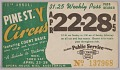 View Transit pass for St. Louis Public Service Company featuring Street Y Circus digital asset number 0