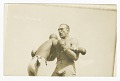 View Photographic postcard of Jack Johnson and James J. Jeffries clinching digital asset number 0