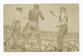 View Photographic postcard of James J. Jeffries staggering away from Jack Johnson digital asset number 0