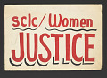 View Poster supporting women and justice made by SCLC digital asset number 0