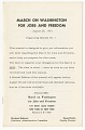 View <I>March on Washington for Jobs and Freedom: Organizing Manual No. 1</I> digital asset number 0