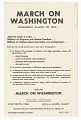 View Flier for the March on Washington distributed by CORE digital asset number 0