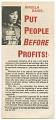 View <I>Put People Before Profits</I> digital asset number 0