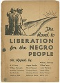 View <I>The Road to Liberation for the Negro People</I> digital asset number 0