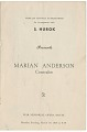 View Program for a Marian Anderson concert at the War Memorial Opera House digital asset number 0