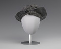 View Black and silver turban style hat from Mae's Millinery Shop digital asset number 0