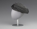 View Black and silver turban style hat from Mae's Millinery Shop digital asset number 2