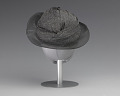 View Black and silver turban style hat from Mae's Millinery Shop digital asset number 3