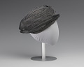View Black and silver turban style hat from Mae's Millinery Shop digital asset number 4