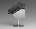 View Black and silver turban style hat from Mae's Millinery Shop digital asset number 5