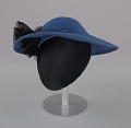 View Navy portrait hat by Mr. John from Mae's Millinery Shop digital asset number 1
