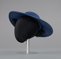 View Navy portrait hat by Mr. John from Mae's Millinery Shop digital asset number 3