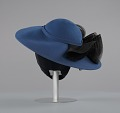 View Navy portrait hat by Mr. John from Mae's Millinery Shop digital asset number 4