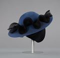 View Navy portrait hat by Mr. John from Mae's Millinery Shop digital asset number 5