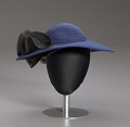 View Navy portrait hat by Mr. John from Mae's Millinery Shop digital asset number 8