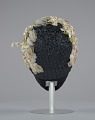 View Navy blue cloche with flowers, beads, and feathers from Mae's Millinery Shop digital asset number 4