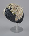 View Navy blue cloche with flowers, beads, and feathers from Mae's Millinery Shop digital asset number 6