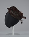 View Brown feathered pillbox hat from Mae's Millinery Shop digital asset number 3
