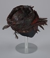 View Brown feathered pillbox hat from Mae's Millinery Shop digital asset number 6
