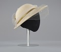 View Cream hat with white and gold embellishment from Mae's Millinery Shop digital asset number 5
