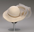 View Cream hat with white and gold embellishment from Mae's Millinery Shop digital asset number 9