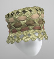 View Green raffia lamp shade hat from Mae's Millinery Shop digital asset number 2
