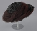 View Black raffia hat with brown and black decorations from Mae's Millinery Shop digital asset number 6