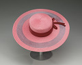 View Pink and purple cartwheel hat from Mae's Millinery Shop digital asset number 2