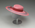 View Pink and purple cartwheel hat from Mae's Millinery Shop digital asset number 3