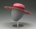 View Pink and purple cartwheel hat from Mae's Millinery Shop digital asset number 4