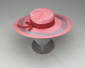 View Pink and purple cartwheel hat from Mae's Millinery Shop digital asset number 5