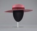 View Pink and purple cartwheel hat from Mae's Millinery Shop digital asset number 7