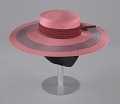 View Pink and purple cartwheel hat from Mae's Millinery Shop digital asset number 11