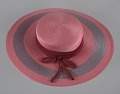 View Pink and purple cartwheel hat from Mae's Millinery Shop digital asset number 12