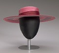 View Pink and purple cartwheel hat from Mae's Millinery Shop digital asset number 13