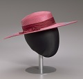 View Pink and purple cartwheel hat from Mae's Millinery Shop digital asset number 14
