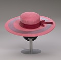 View Pink and purple cartwheel hat from Mae's Millinery Shop digital asset number 15