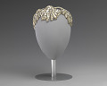 View Ivory and silver sequin and beaded cap from Mae's Millinery Shop digital asset number 0