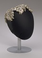 View Ivory and silver sequin and beaded cap from Mae's Millinery Shop digital asset number 7