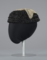 View Black raffia hat with cream embellishments from Mae's Millinery Shop digital asset number 2