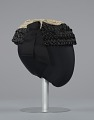 View Black raffia hat with cream embellishments from Mae's Millinery Shop digital asset number 4
