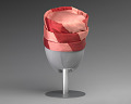 View Pink and red hat with pink rose decoration from Mae's Millinery Shop digital asset number 3