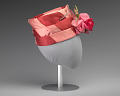 View Pink and red hat with pink rose decoration from Mae's Millinery Shop digital asset number 4